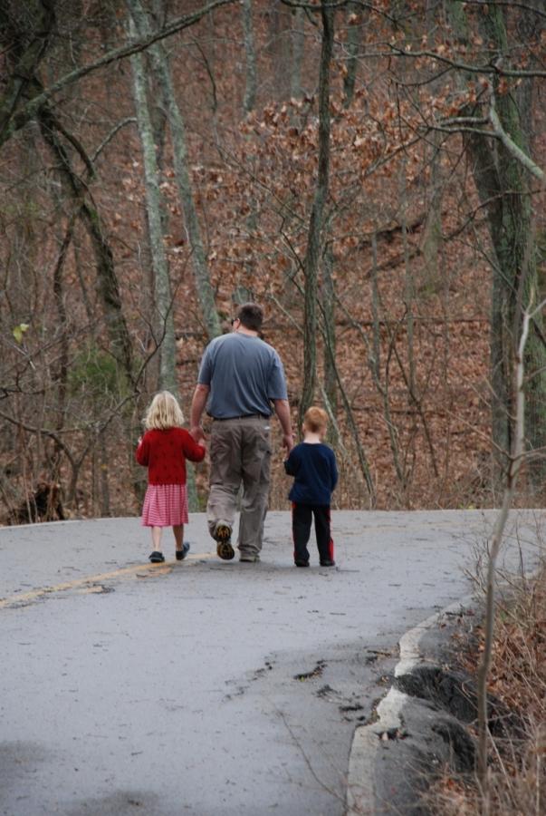 Vater Sohn und Tochter