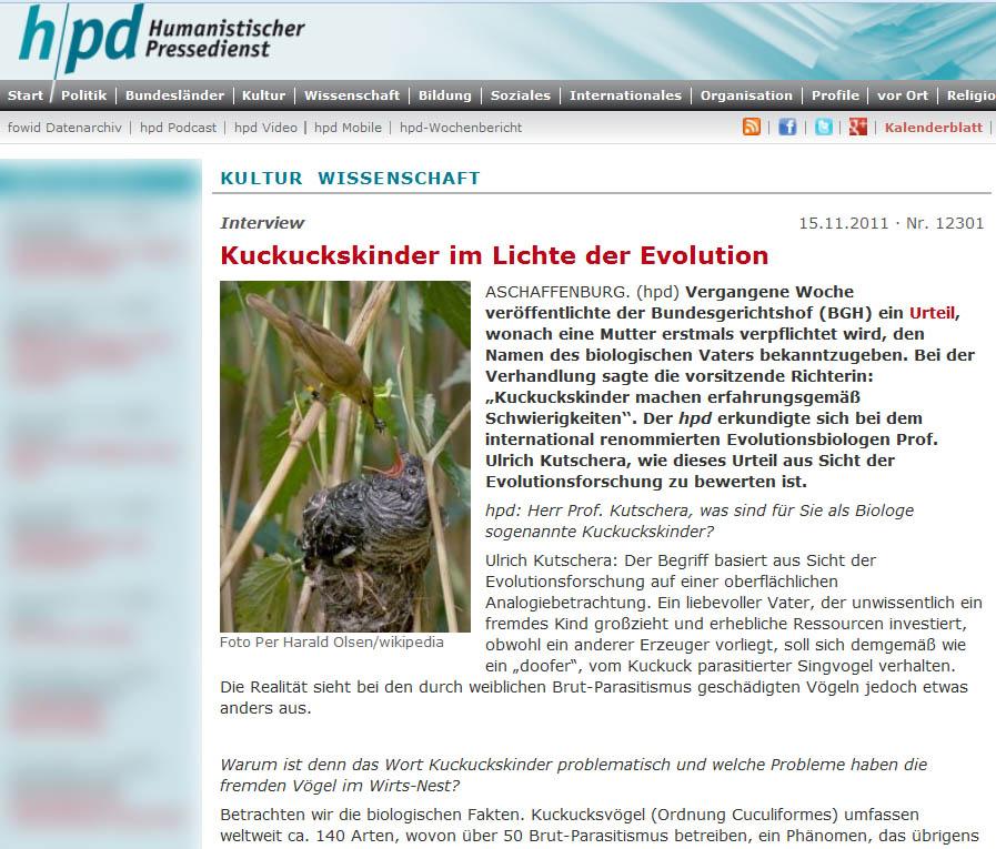 Die evolutionsbiologische Sicht auf die Kuckuckskinder – Weiblicher ...