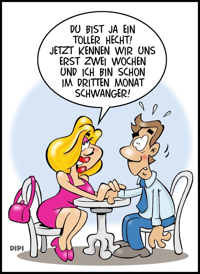 Abgebrüht und unverfroren - Karikatur von Dirk Pietrzak alias DIPI