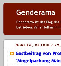 Ausschnittsabbildung des Blogs Genderama von Arne Hoffmann