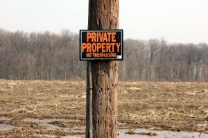 Schild Privateigentum