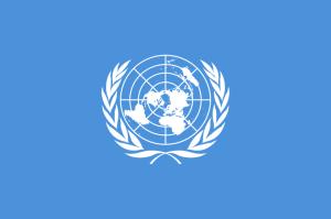 Weltkarte auf hellblauem Hintergrund