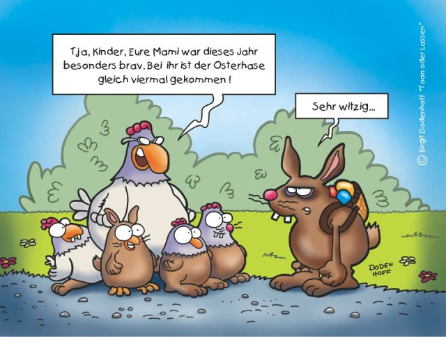 Huhn und Hase und ihre gemeinsamen Kinder