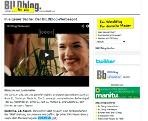 Screenshot von BILDblog.de