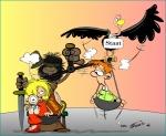 Karikatur von Reinhard Trummer alias Trumix zum Familienrecht