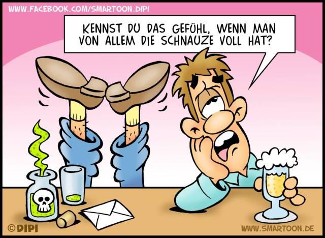Ich habe die Schnauze voll - Karikatur von Dirk Prietzak alias DIPI