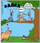 Kuckuckskind-Cartoon von José