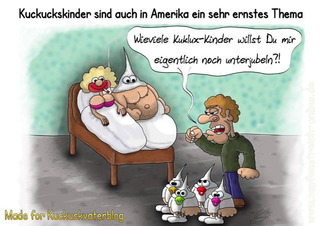 Kuckuckskind-Karikatur