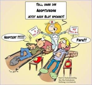 Die Blutgruppe kann in manchen Fällen dabei helfen, eine Vaterschaft auszuschließen