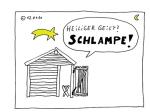 Karikatur im Minimalstil