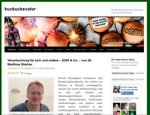 Screenshot vom Kuckucksvaterblog Sylvester  2013