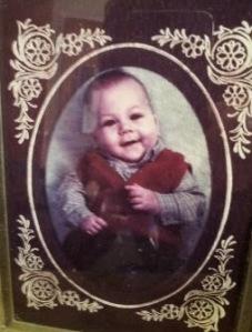 Farbfoto von einem Baby