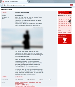 Screenshot Webseite orf