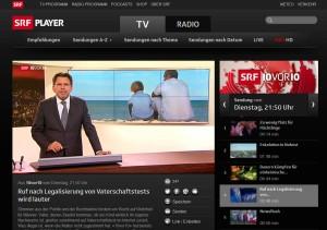 Screenshot Webseite SRF1