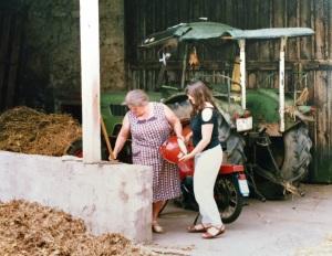 Marion Prinz mit ihrer Oma Hedwig
