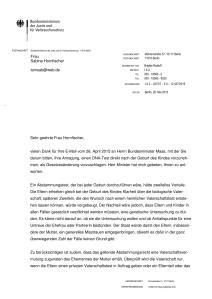 JPG vom Antwortschreiben Seite 1 von 2