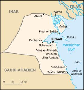 Karte Kuwait und Umgebung